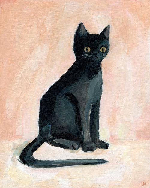 Afbeeldingsresultaat voor Elizabeth Blackadder, Black Cat