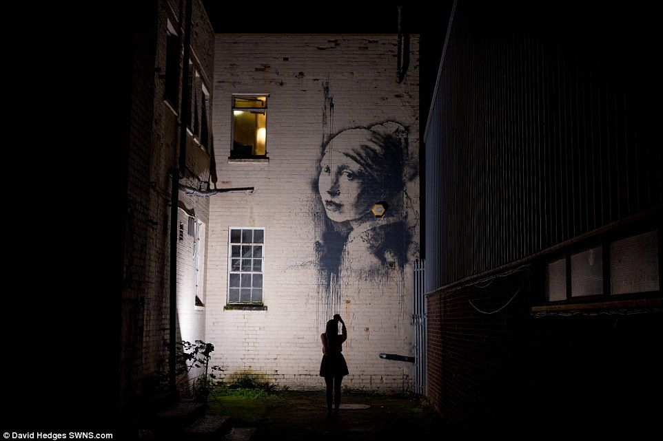 Banksy - a parody of Girl with a Pearl Earring