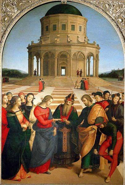 Raffaello Sanzio: RAPHAEL (Raffaello Sanzio da Urbino) (1483-1520) ~ - The Charge to Saint Peter