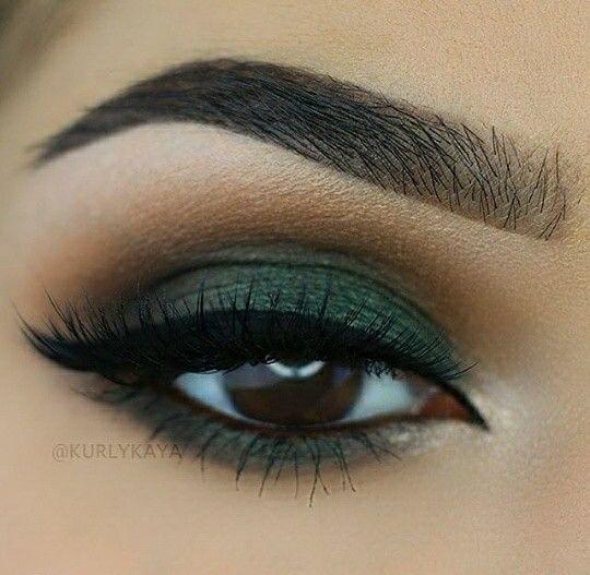 Cute eye make up in 2020 | Green eyeshadow, Makeup for ...