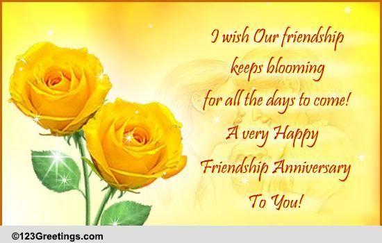 Happy Friend Anniversary Friendship Anniversary Quotes Quotesgram