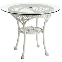 Delightful Pier 1 Santa Barbara Bistro Table   White * 30 Inch Round Glass Top For My