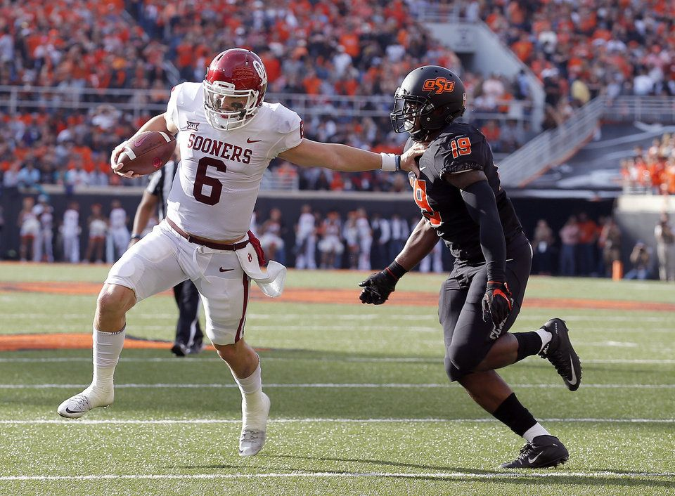 Bedlam football Wild game leaves Mayfield exhausted