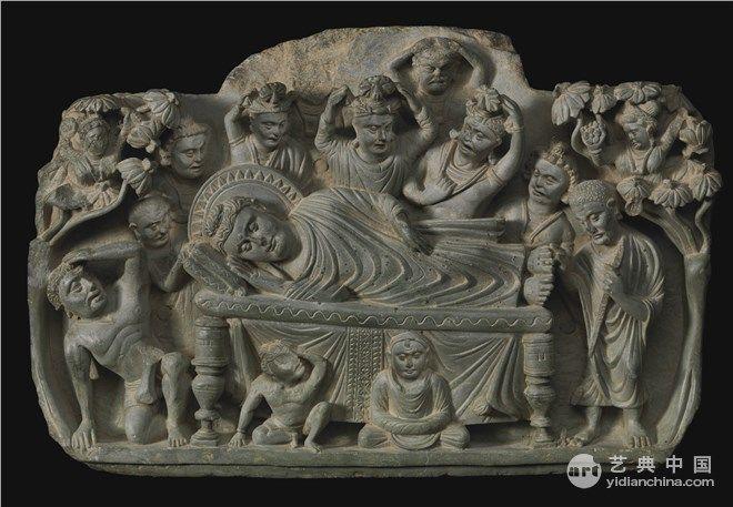 灰色片岩 39.4×57.2cm古干陀罗地区 2世纪 蘇富比 http://news.yidianchina.com/130912/5872.html