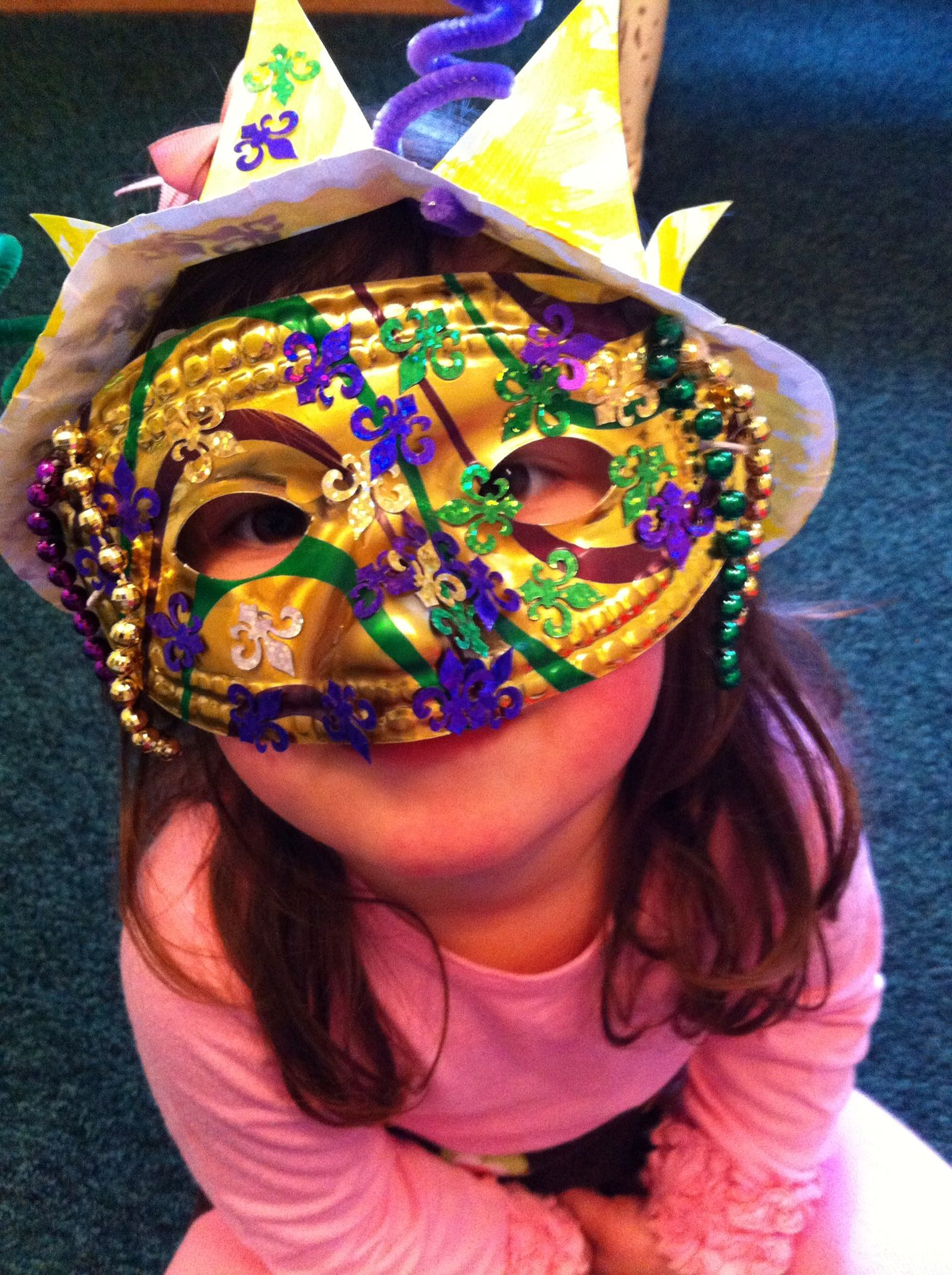 Mardi Gras Hats And Masks For Our Preschool Parade