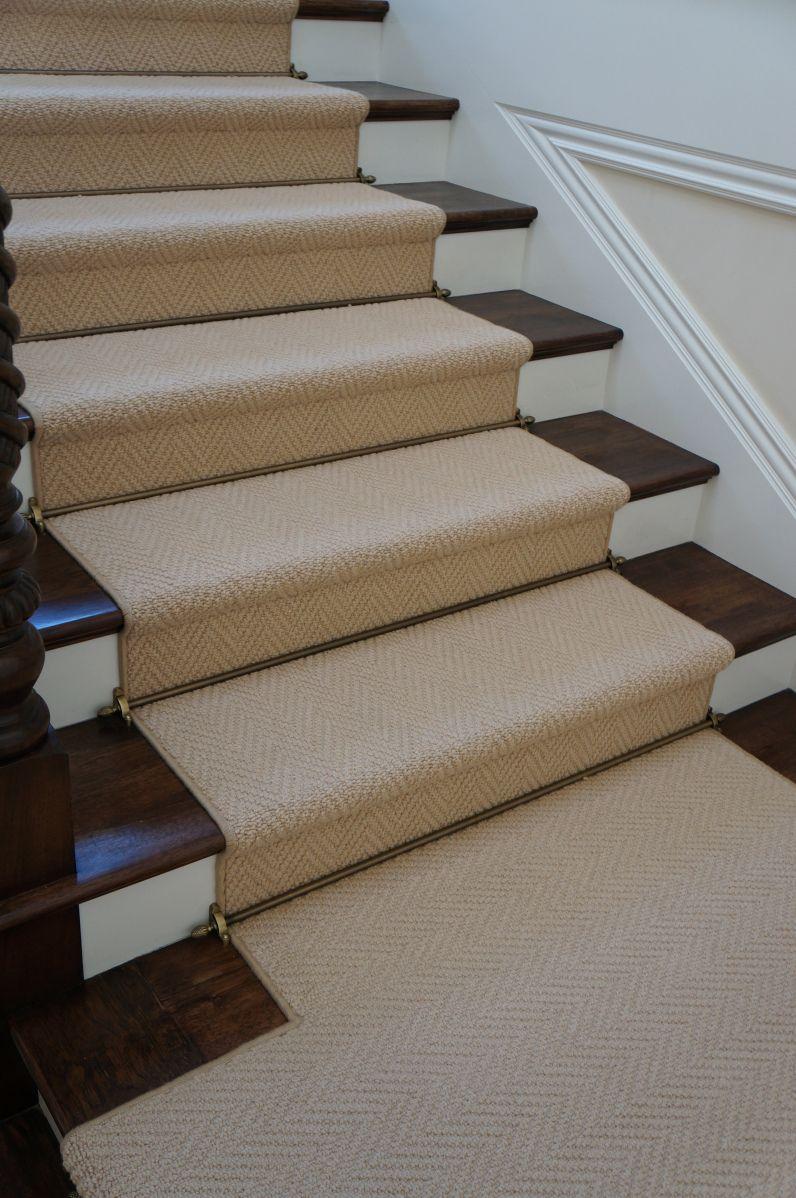 Herringbone Wool Stair Runner Stair Runner Carpet Wool Stair | Flooring For Stairs Not Carpet | Stair Tread | Stain | Staircase Makeover | Bullnose Carpet | Laminate Flooring