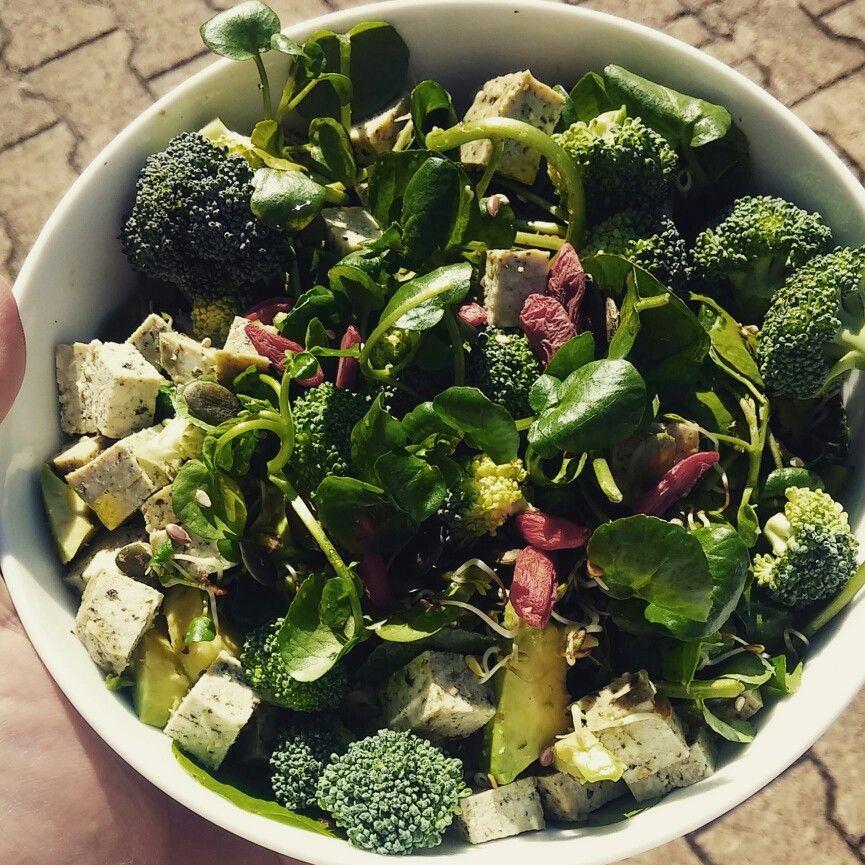 Repas Vegetalien Complet Et Delicieux Salade De Cressons De Riviere