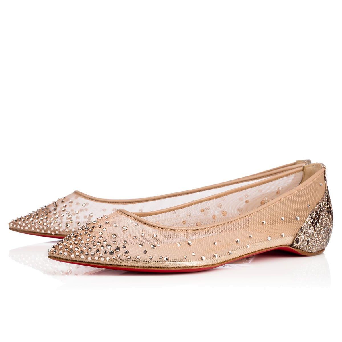 0fae650ea48e CHRISTIAN LOUBOUTIN Follies Strass Flat Version Light Silk Strass - Women  Shoes - Christian Louboutin.  christianlouboutin  shoes
