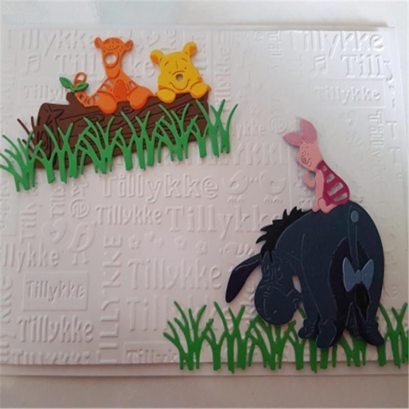 Piglet and Eeyore cutting die pooh cutting DIY Scrapbooking cardmaking