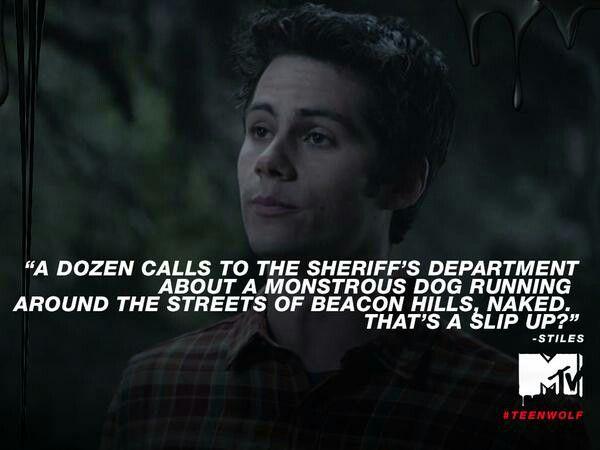 Ah, I miss Stiles' sarcasm