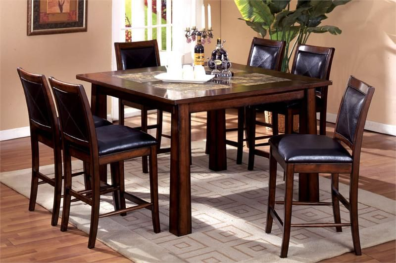 Oak Counter Dining Table Set | Dining Room | Pinterest ...