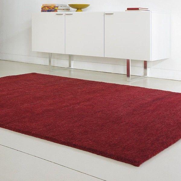 tapis uni en laine nou main rouge418 loook 140x200 tapis cosy tapis loook collection 2015. Black Bedroom Furniture Sets. Home Design Ideas