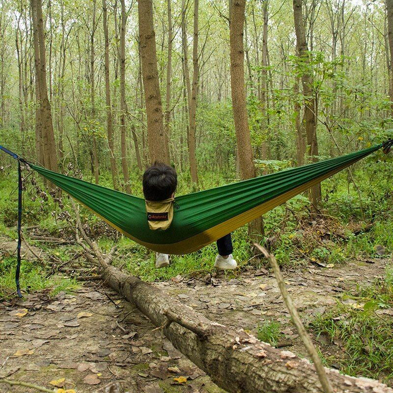 Outdoor Hammock Garden Camping Sports Home Travel Hang Bed Double 2 Person Camouflage Leisure Travel Parachute H Outdoor Hammock Double Camping Hammock Outdoor