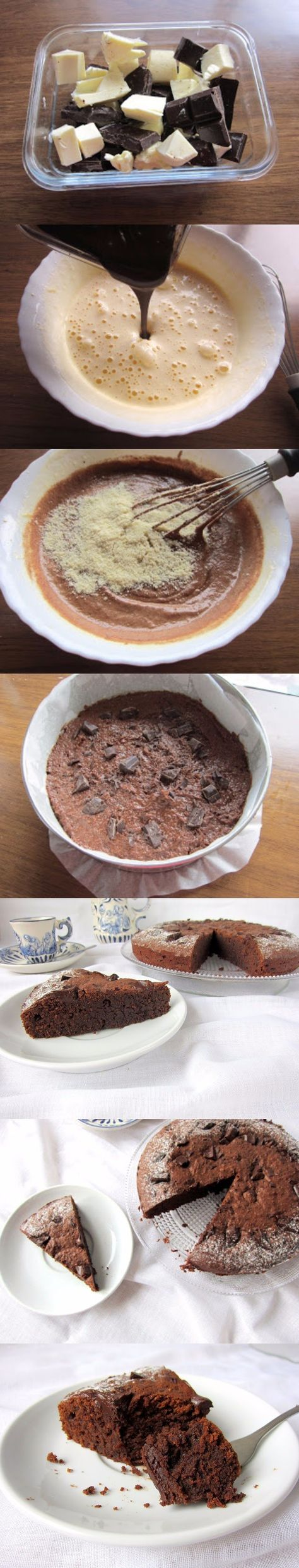Tarta de chocolate y almendra / http://unapinceladaenlacocina.blogspot.com.es