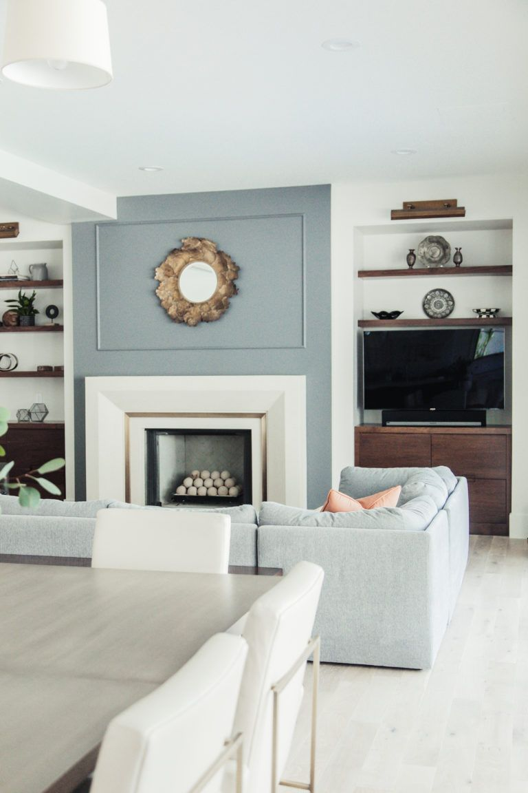 gorgeous and classy family room with modern feel | Cabinets ...