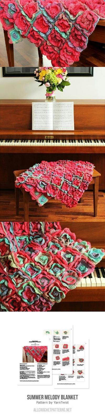 Dorable Voluminoso Crochet Hilo Patrón Chambergo Regalo - Manta de ...