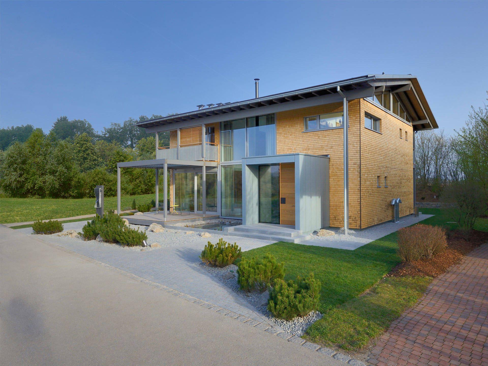 Modernes holzhaus satteldach  Singlehaus • Holzhaus von Palisadio • Attraktiver Bungalow mit ...