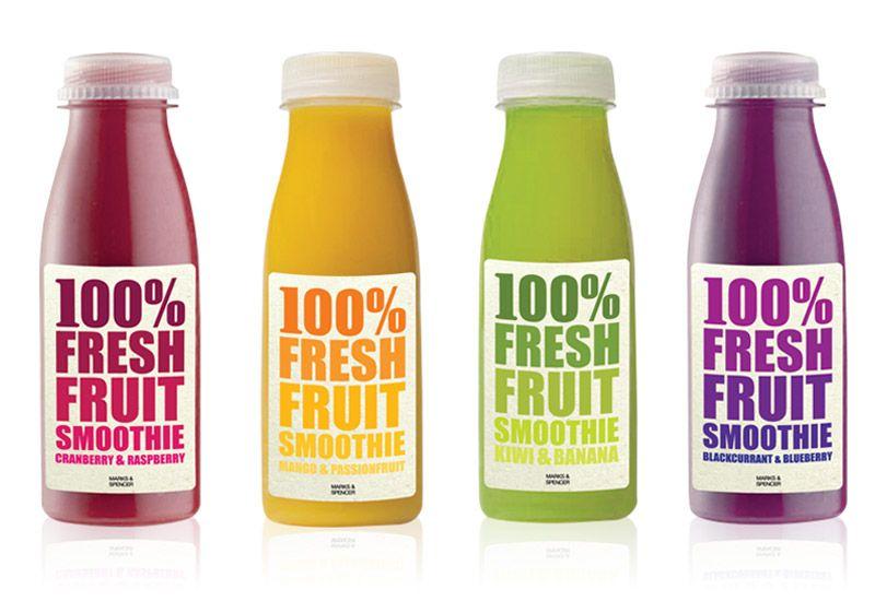 Marks Spencer Fresh Fruit Smoothie Packaging Yummy Fruit