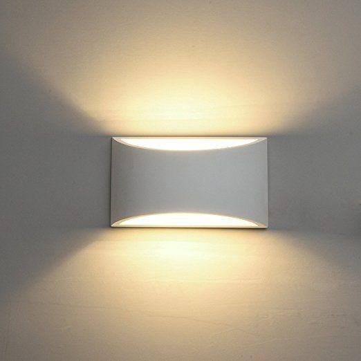 Deckey 3w Led Wandleuchte Gipslampe Wandlampe Modern Design Aus Gips