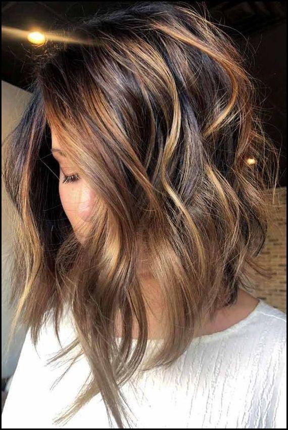 27 Niedliche Invertierte Bob Haarschnitte Fur Frauen 2018 Bob Frisuren Bob 27 Bob Bobhaarschnit Balayage Hair Hair Styles Brunette Hair Color
