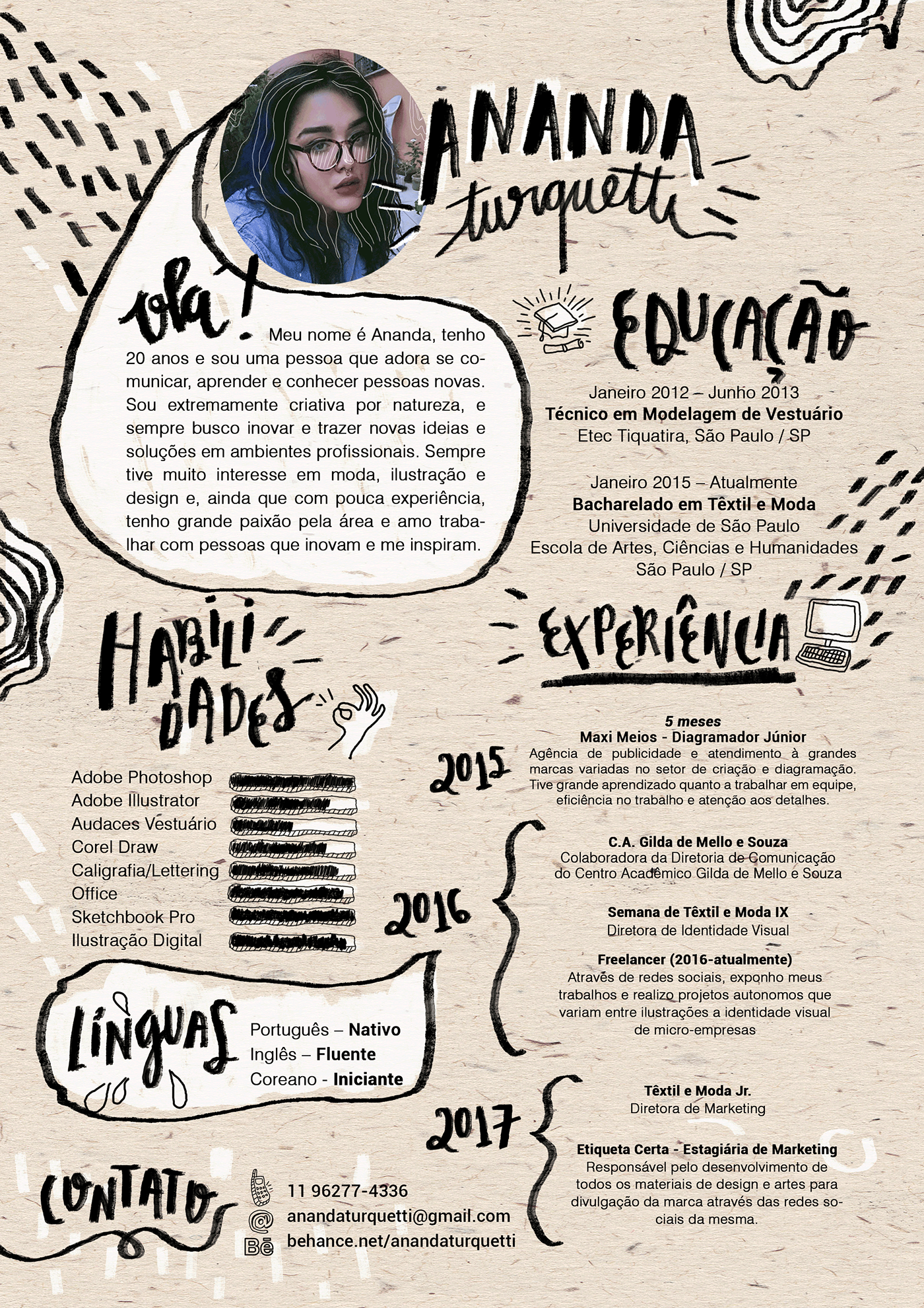 Resume Curriculum Vitae On Behance Cv Kreatif Desain Cv Desain Editorial