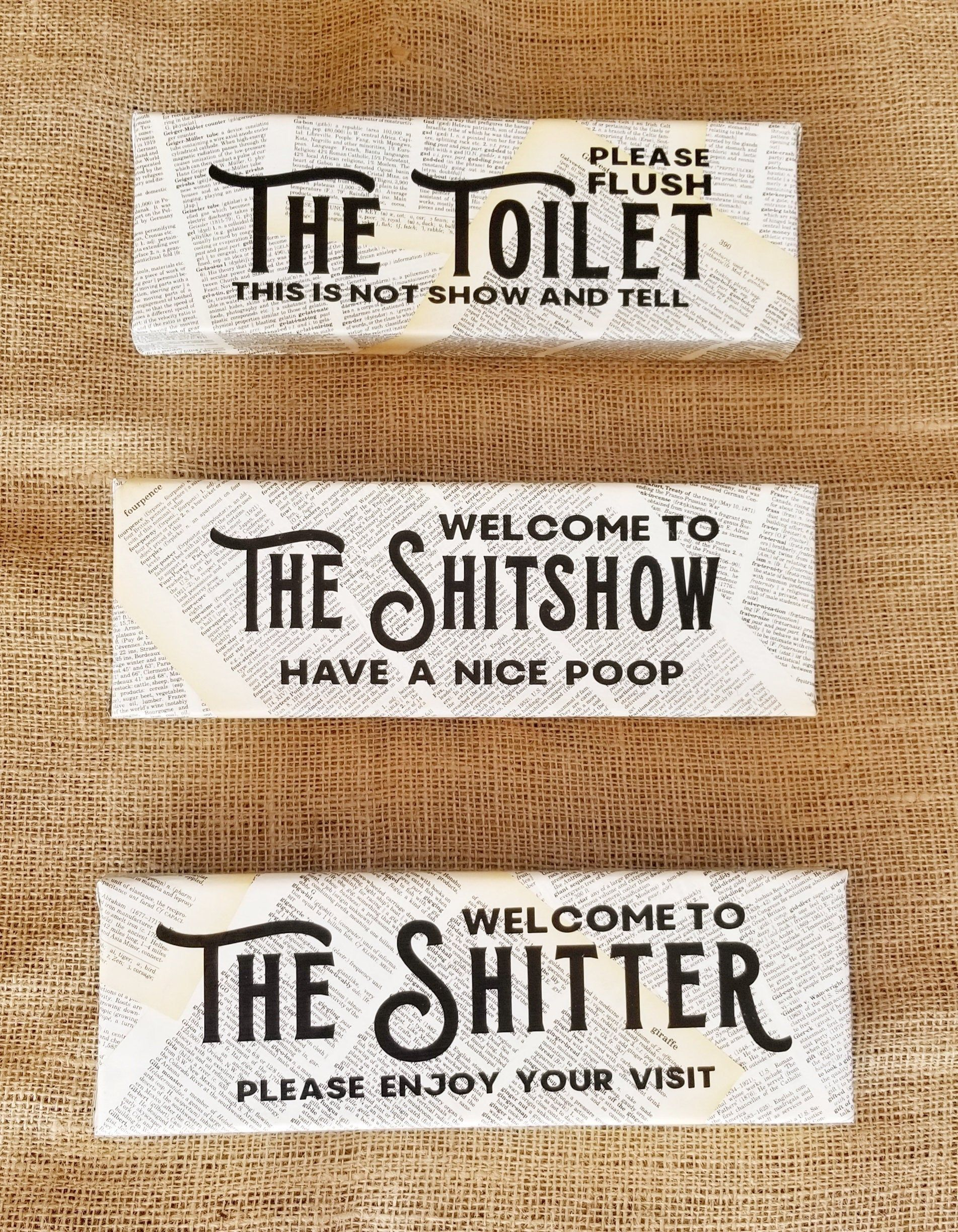 Photo of Handcrafted Funny Bathroom Signs, Shitter, Shitshow, Toilet, Loo, Restroom, Bath, Washroom, Wall Art, Potty Mouth