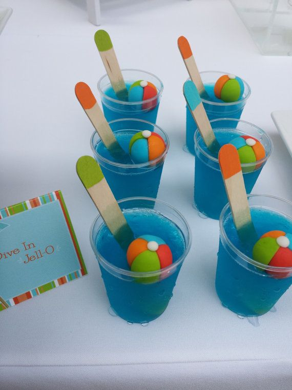 Fondant Pool Party Cupcake Toppers Summer Party 24 Qty Beach