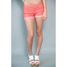 Walk On Sunshine Shorts-Coral - $34.00