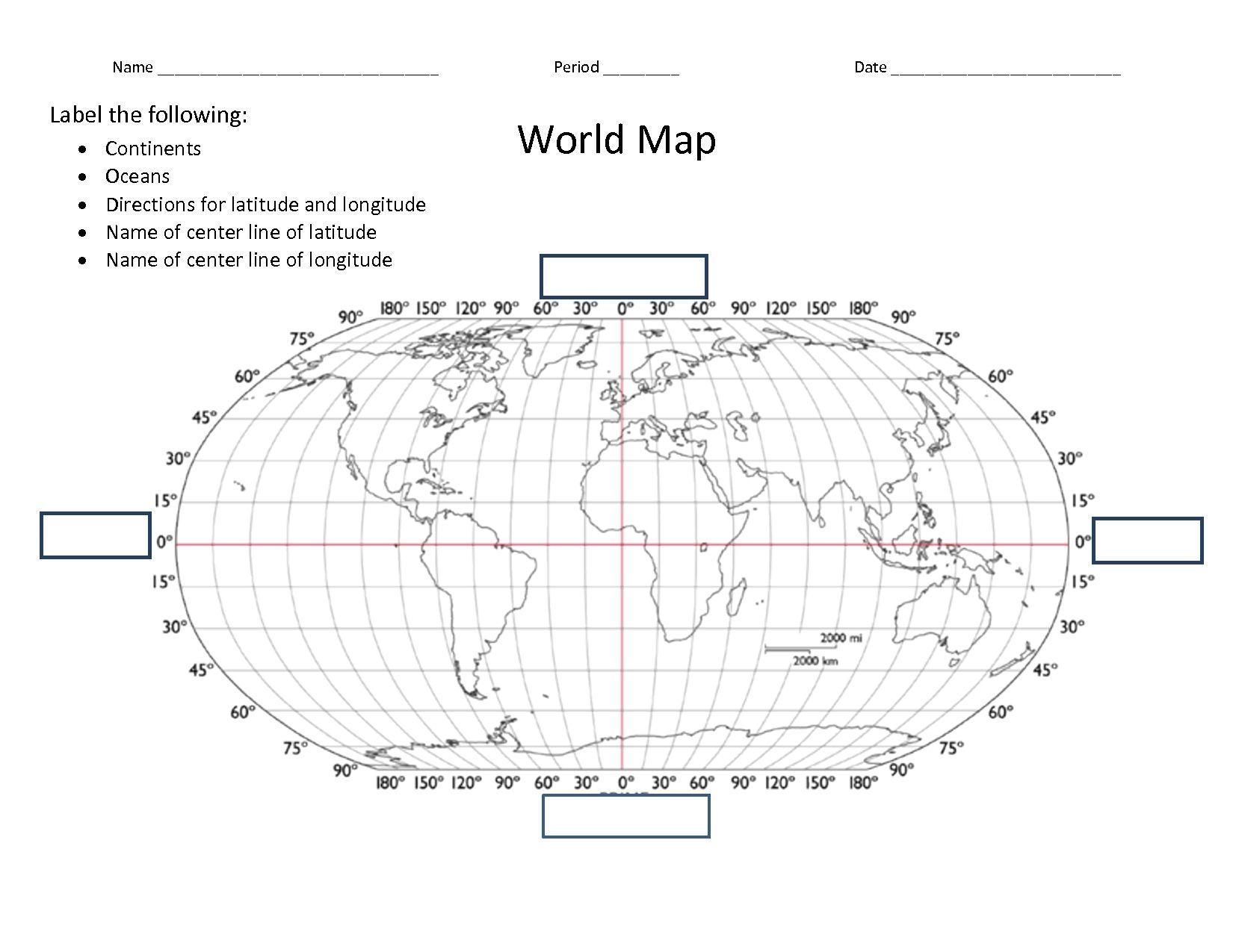 Facts Latitude And Longitude World Map Worksheet Danasrfctop Map Worksheets Map Latitude And Longitude Map