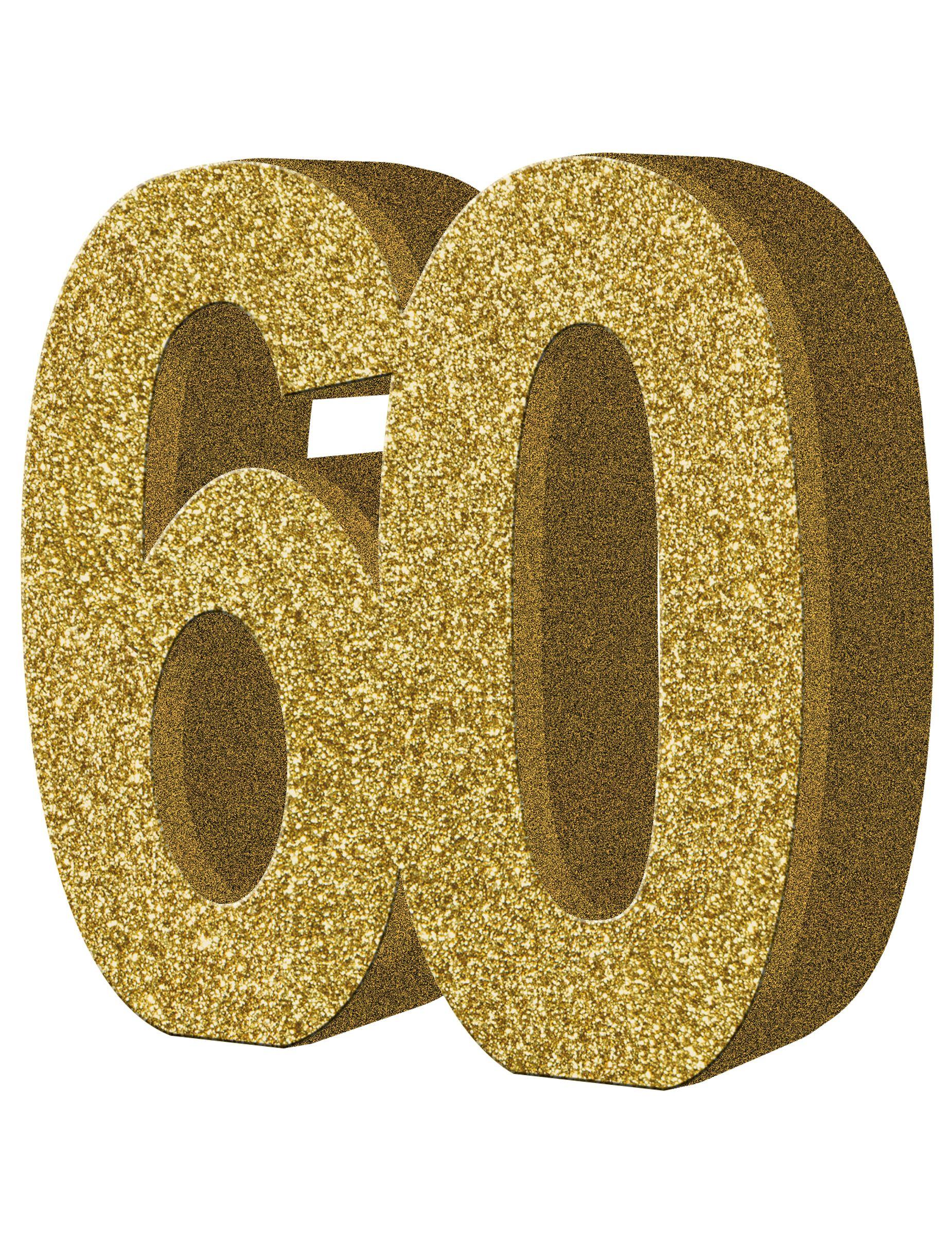 Decoraci n de mesa 60 a os este centro de mesa el n mero for Decoracion 60 30 10