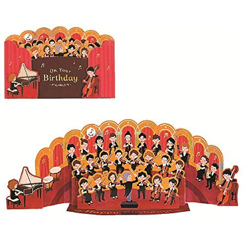 Amazon Com Happy Birthday Classical Orchestra Sound W 2 Melodies Pop Up Greeting Card Office Products Birthday Greeting Cards Greetings Birthday Greetings