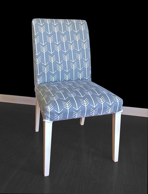 Beautiful Slipcover For The HENRIKSDAL Dining Chair In Arrows Cool Grey!  Replace Your Existing Cover For A Whole New Look.