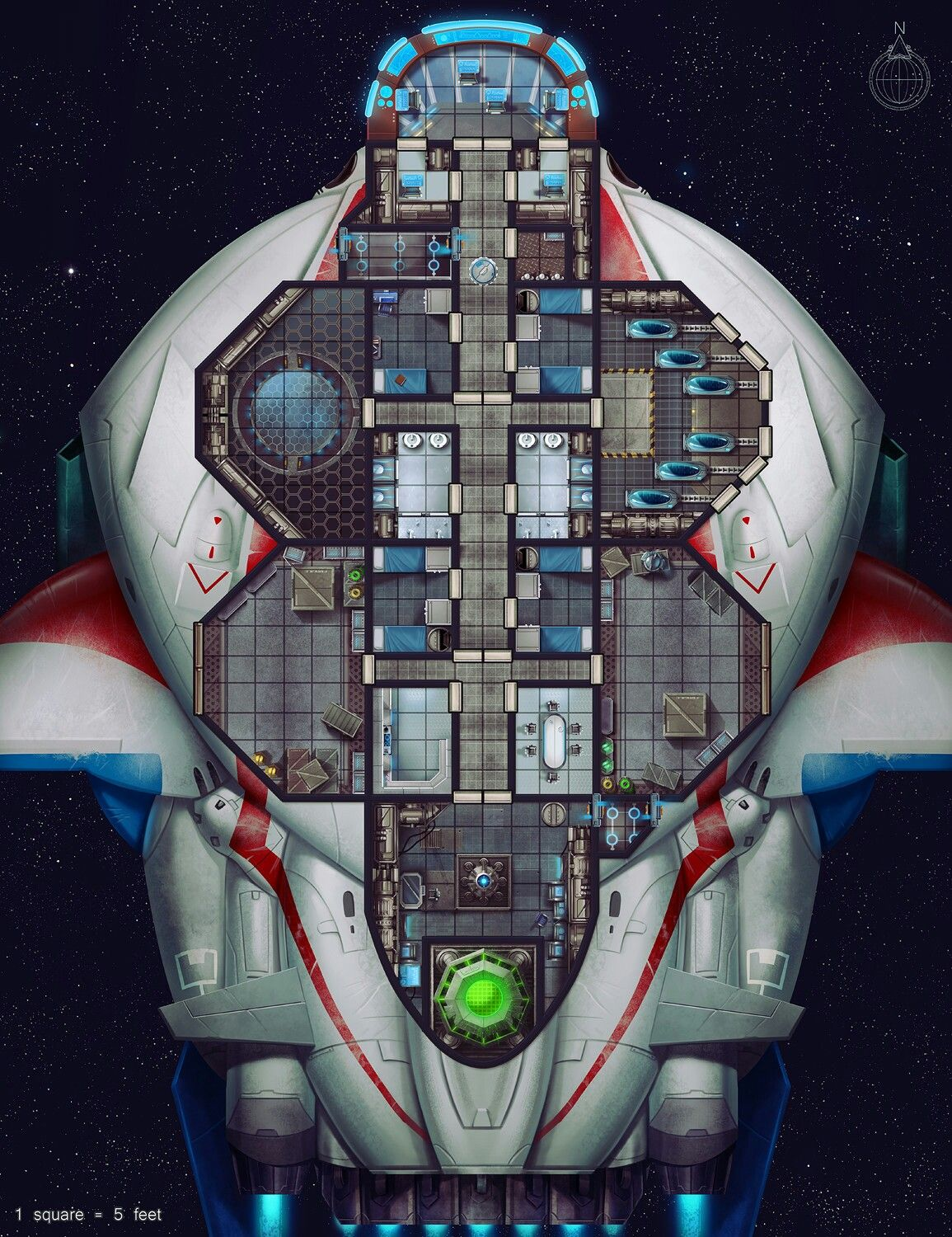 Pin By Phil Grimes On Starfinder Star Trek Rpg Ship Map