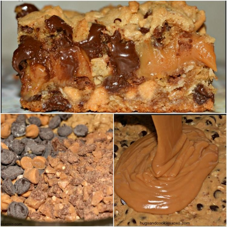 Toffee, Peanut Butter and Caramel Cookie Bars | Recipe ...
