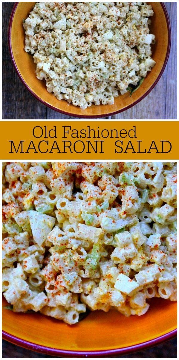 Photo of Old Fashioned Macaroni Salad – Recipe Girl