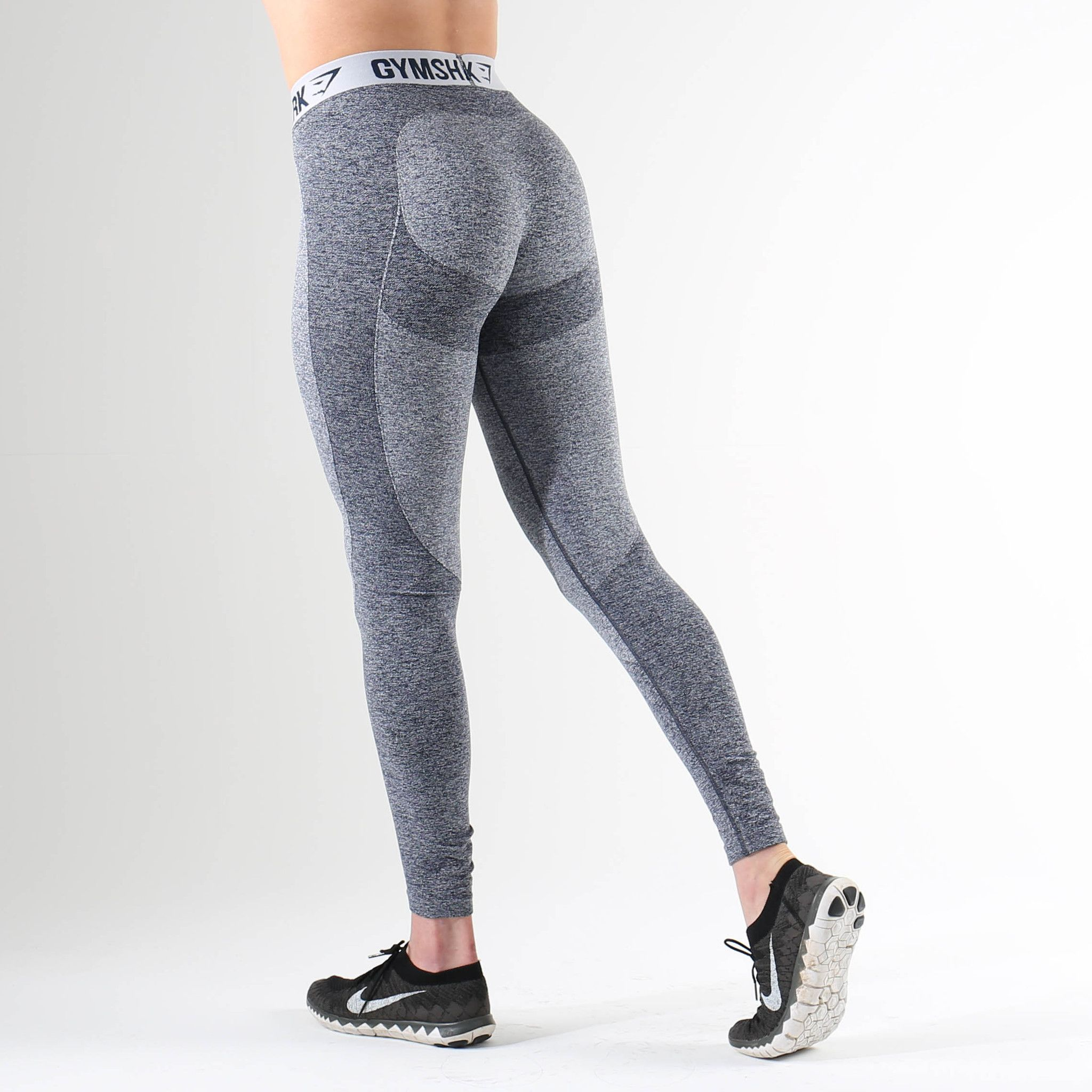 59fde73514 Gymshark Flex Leggings - Sapphire Blue Marl/Light Grey | workout ...