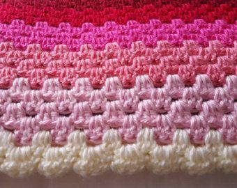Crochet bebé manta-náutica por MyOldLadyHobby en Etsy