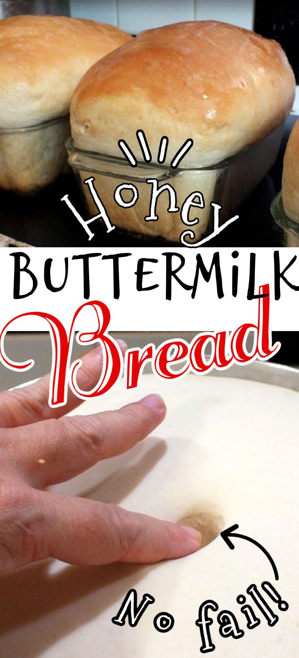 Homemade Buttermilk Bread Recipe with Honey   Recipe in ...