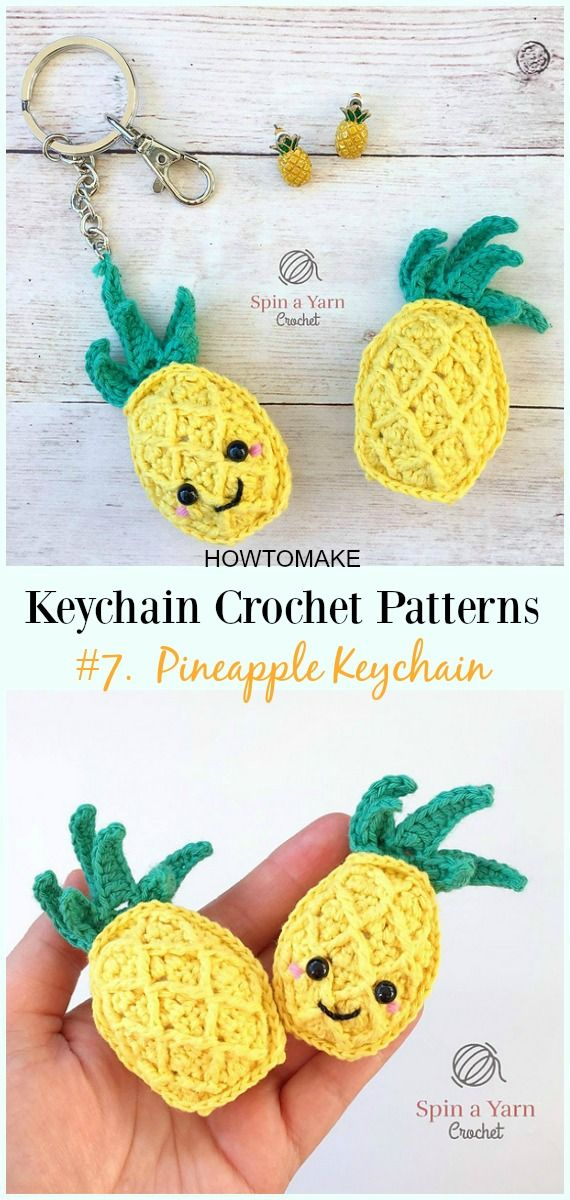 Cute and Fun Keychain Crochet Patterns Free | CRAFTS | Pinterest ...