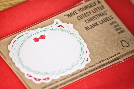 Blank Holiday Address Labels/Gift Labels - Have Yourself A Cutesy Little Christmas by Gloriousmess!, $4.00