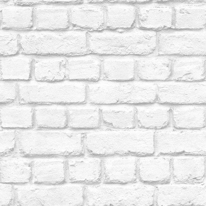 White Arthouse V.I.P Brick Effect Wallpaper 623004 Light Grey