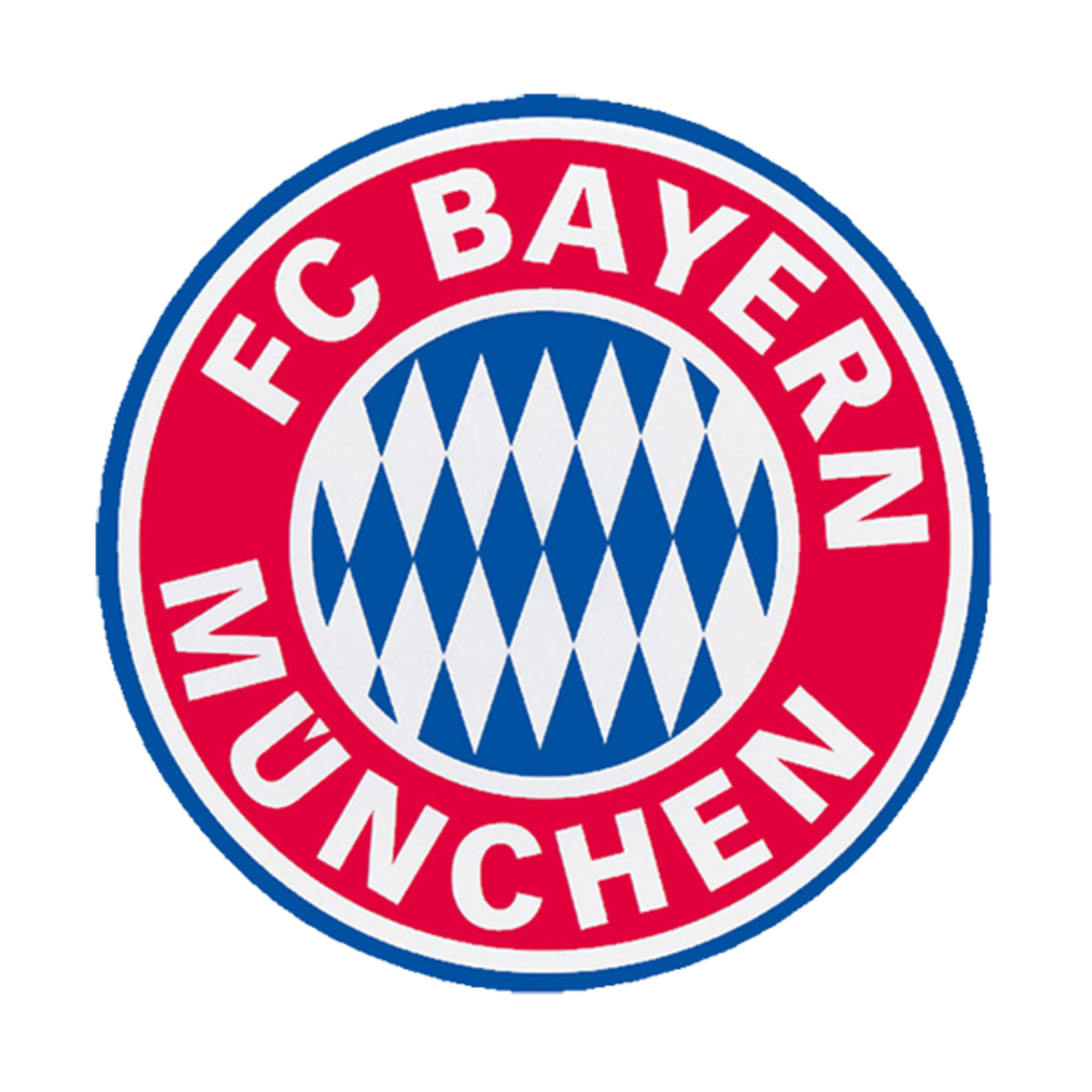 sticker emblem  bayern and football team