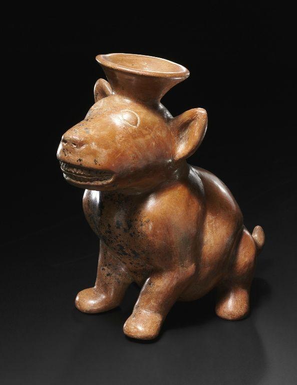 Cane seduto, Cultura Colima, Messico occidentale Preclassico recente, 100 a. C.-250 d. C. Venezia, Collezione Ligabue.