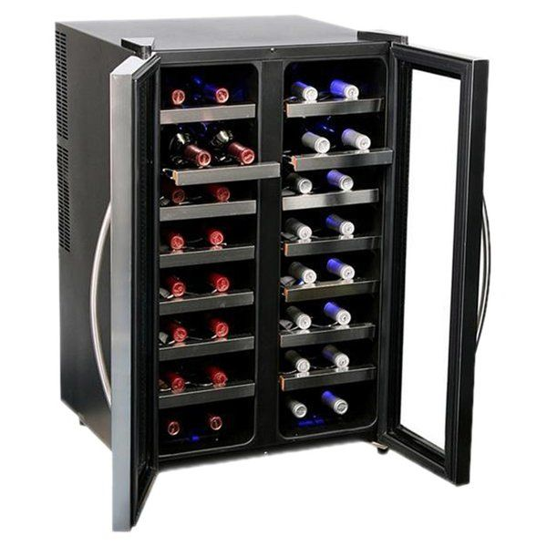 32 Bottle Dual Zone Freestanding Wine Refrigerator Cave A Vin