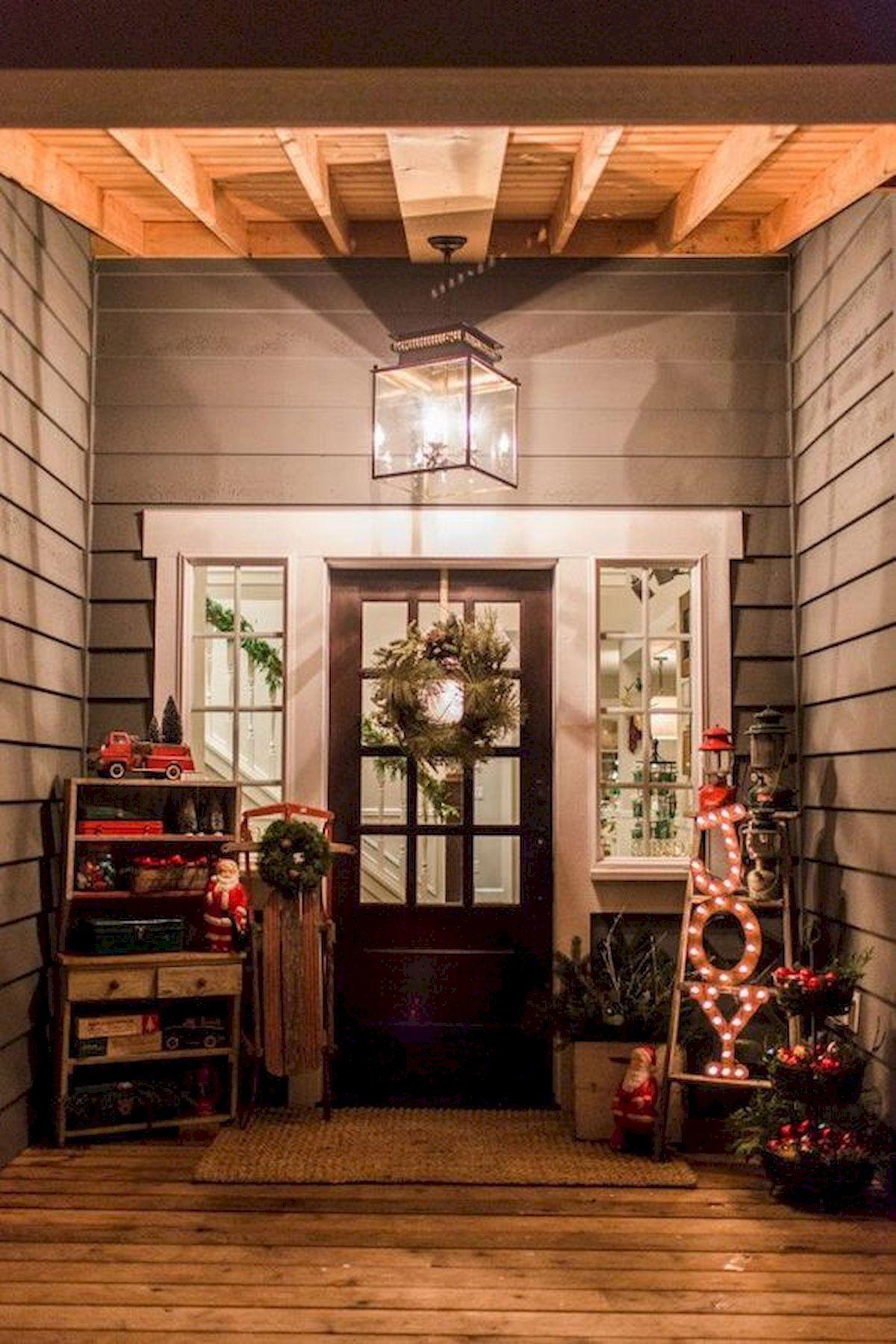 40+ STUNNING FRONT PORCH CHRISTMAS LIGHTS DECOR IDEAS ...