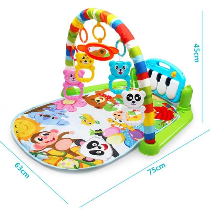 4 in 1 Fitness Music Baby Play Mat Lay Seat Crawling Kids Gym Playmat Fun Piano