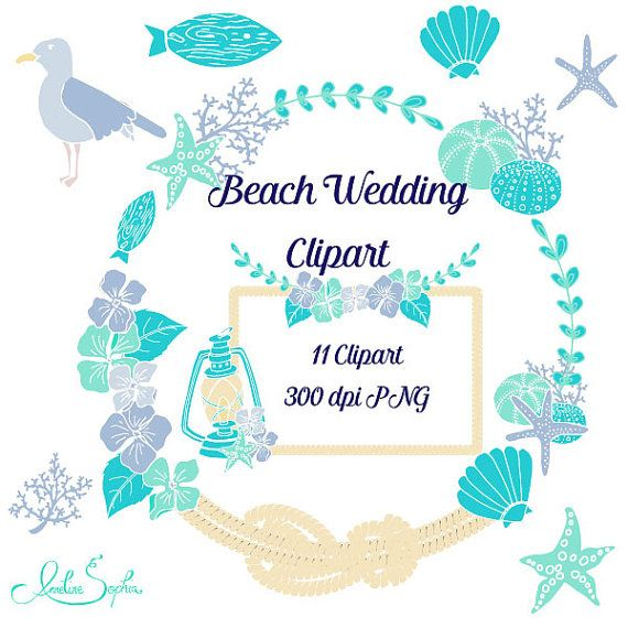beach wedding clipart nautical wedding invitation clip art sea rh pinterest ca Beach Wedding Clip Beach Wedding Clip