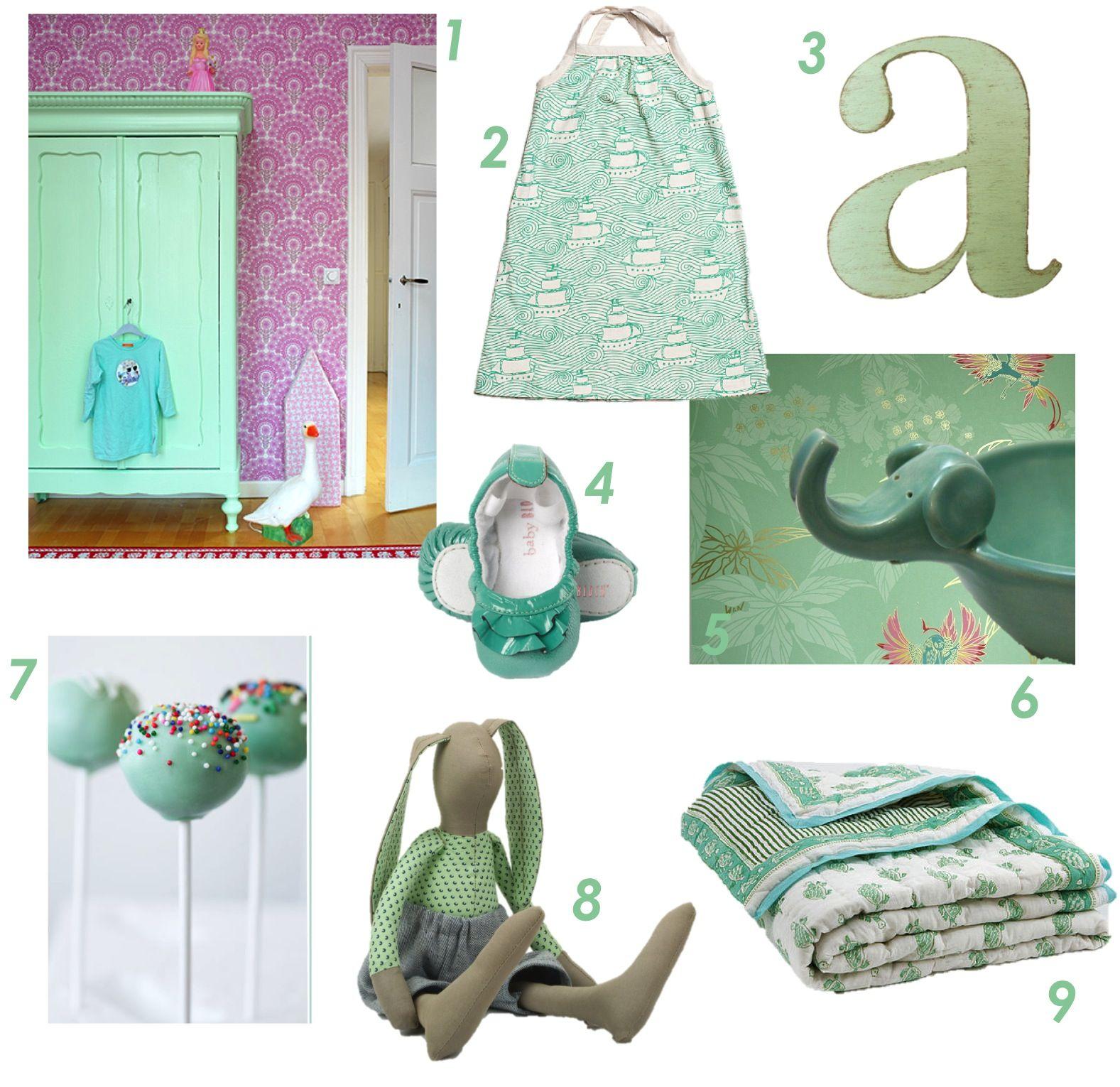 mint green kidsroom