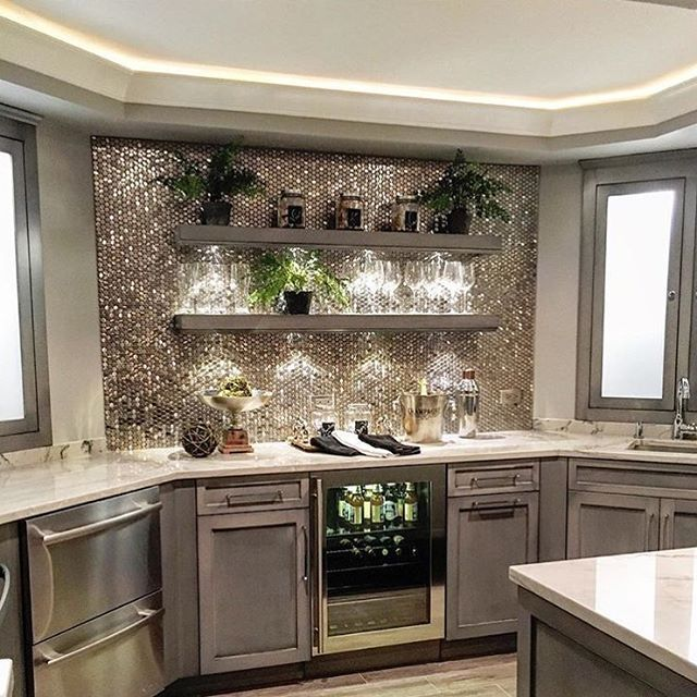 How Fabulous Is This Glam Kitchen Absolutely Gorgeous