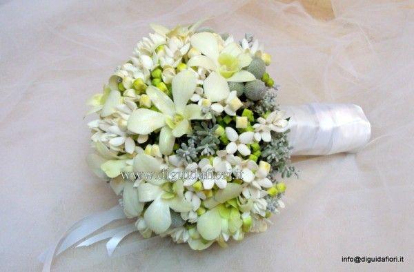 Bouquet Sposa Orchidee E Fiori D Arancio.Bouquet Dfa Sposa Con Bouvardia E Orchidee Bridal